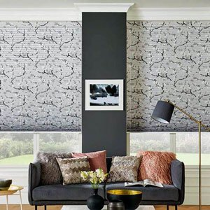 patterned pleated blinds