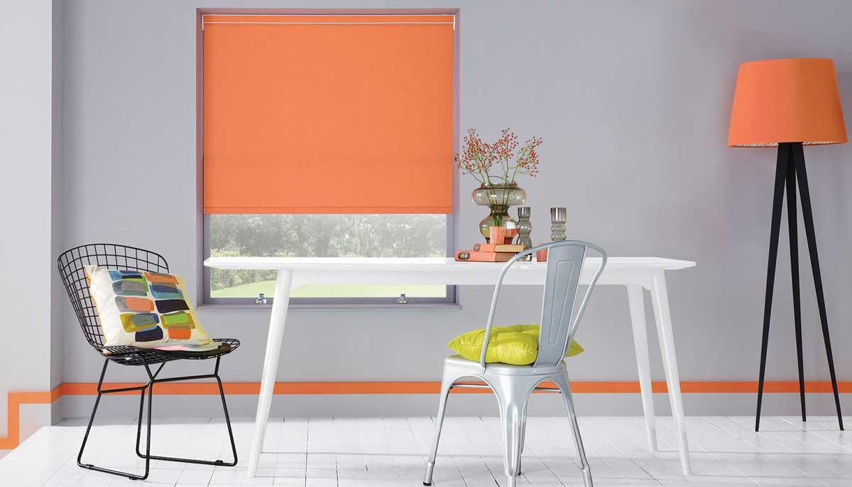 peach roller blinds