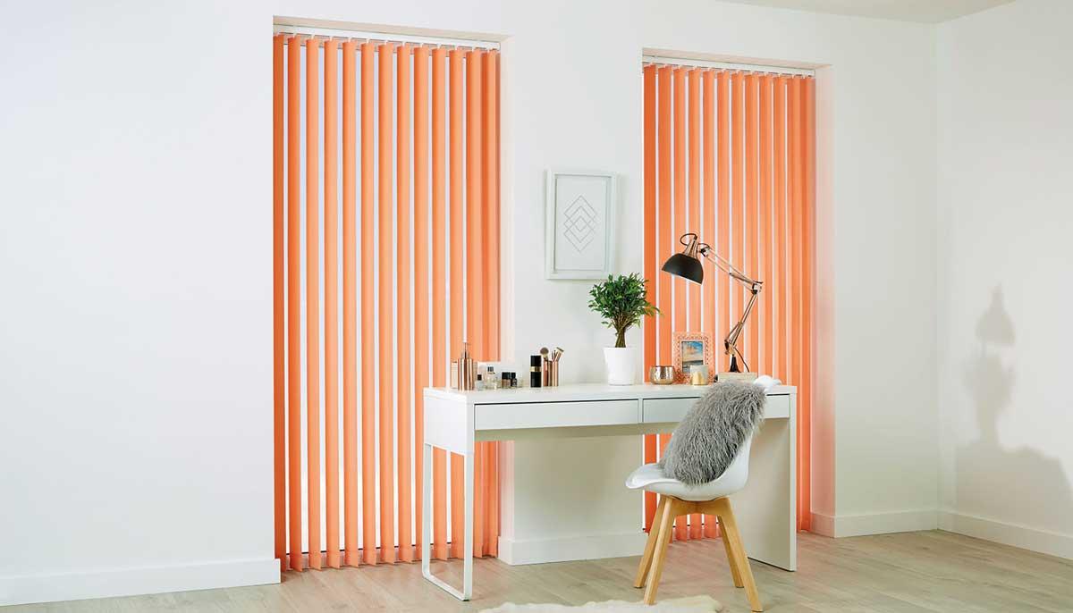 peach vertical blinds
